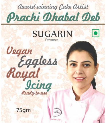Vegan Eggless Royal Icing By Prachi Dhabal Deb, 75gm